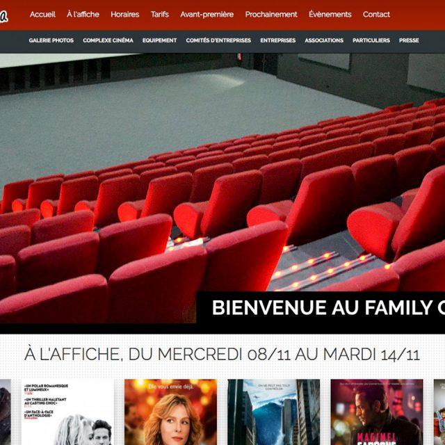 Site internet Family Cinema - portfolio Isabelle Pauze communication