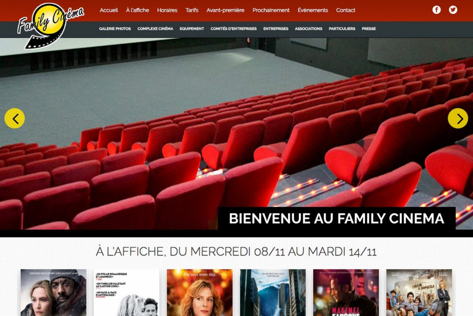 Site internet Family Cinema - portfolio Isabelle Pauze communication