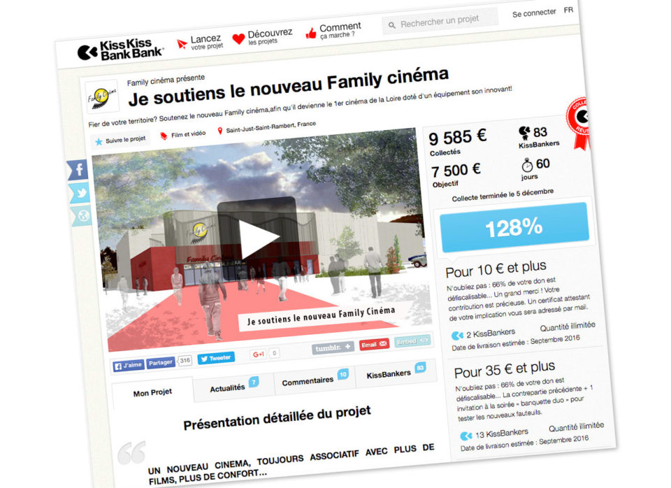 visuel campagne crowdfunding Family Cinema